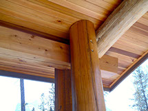 Details of Canadian Timber Frame Home