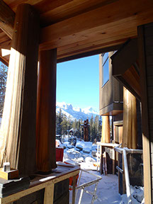 Timber Frame Home Canmore Canada